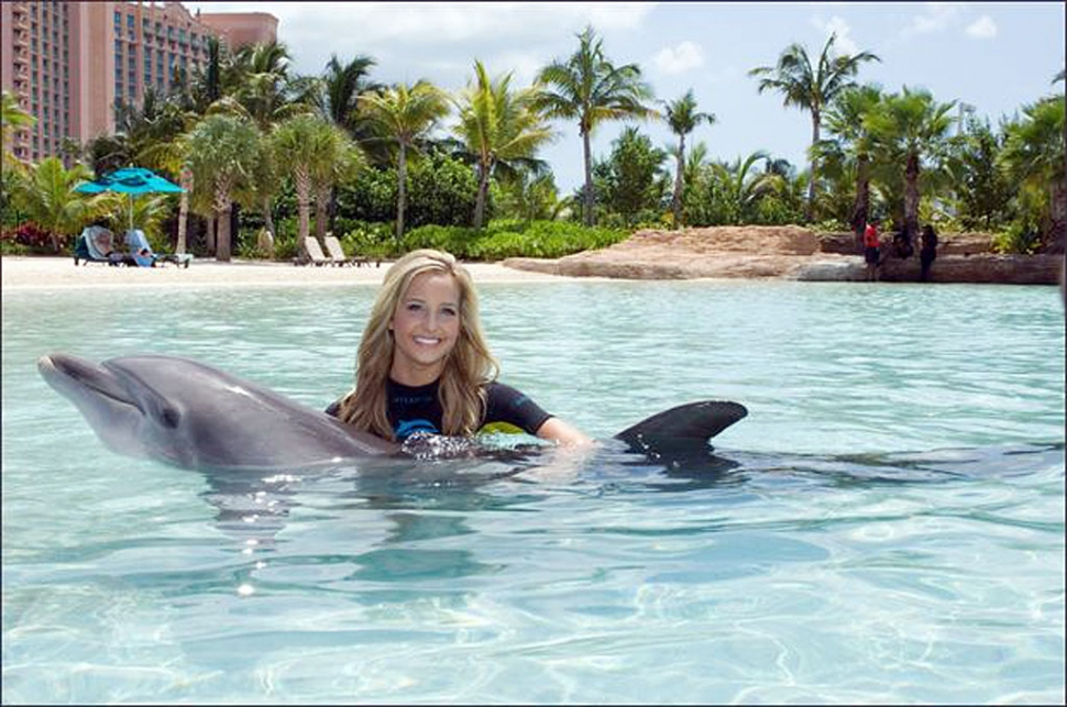 Taylor with Dolphin.