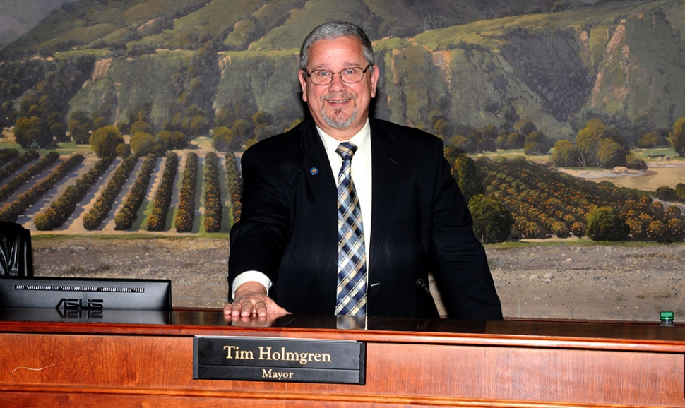 (above) Tim Holmgren was appointed Mayor of Fillmore at Tuesday night's city council meeting.