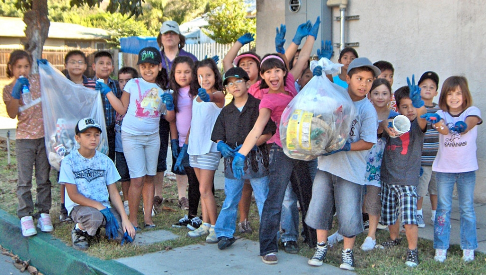 On Oct. 8th it was Walk to School Day. San Cayetano is a school of service. In addition to walking for health, each class picked up trash around their campus vicinity. The 4th and 5th graders walked to Fillmore High School and walked around the new track. On their way back to San Cayetano they picked up trash. The 2nd and 3rd graders picked a neighborhood block to pick up trash and kinder and 1st cleaned up San Cayetano. It was a healthy-service day for all.