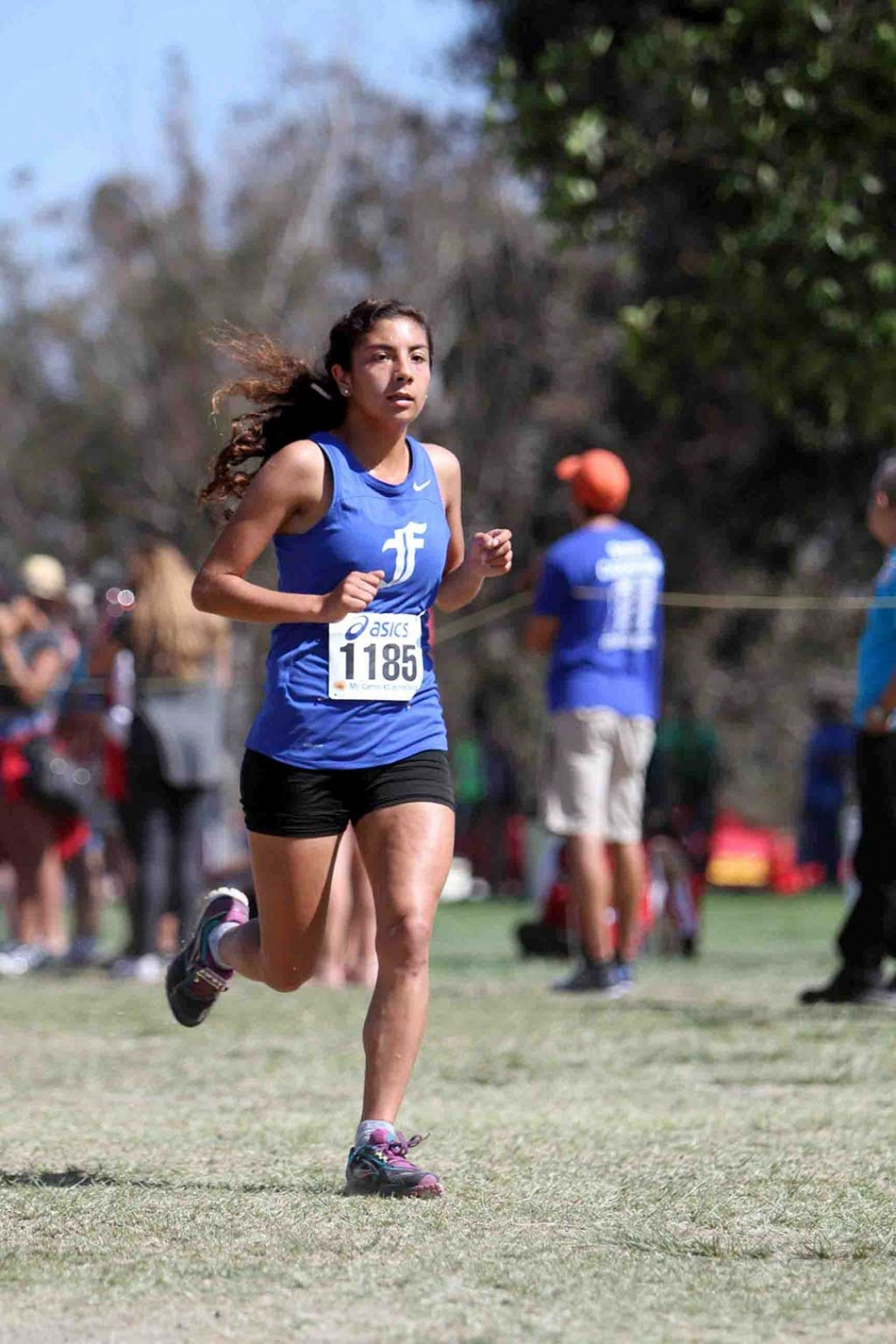 Senior Lauren Magdaleno at this past Saturday's 37th Annual Mt. Carmel/Movin Shoes Cross Country Invitational.