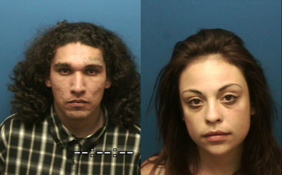 (l-r) Suspects Jacob Escobedo, Transient, Santa Paula, 28 and Natane Chapman, Transient, Fillmore, 22