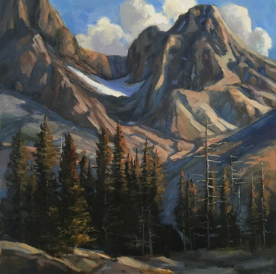 """Above Ediza Lake"" by Nita Harper, oil, 24 x 24 inches, Collection of the artist."