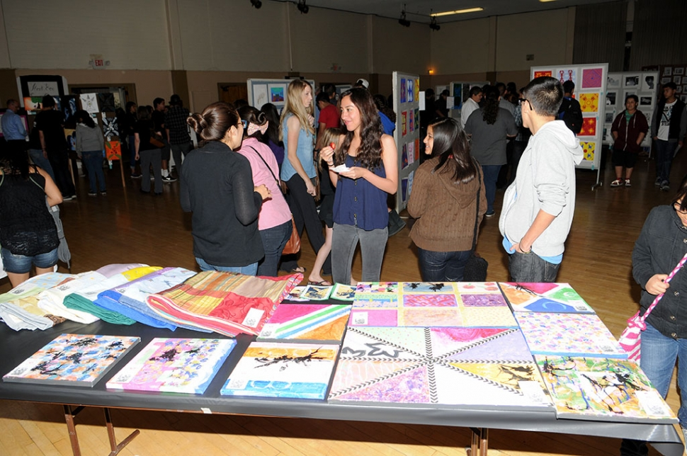 The Fillmore High Art Show held on Thursday April 10th at the Veterans Memorial Building drew its annual large crowd. All mediums of art were presented.