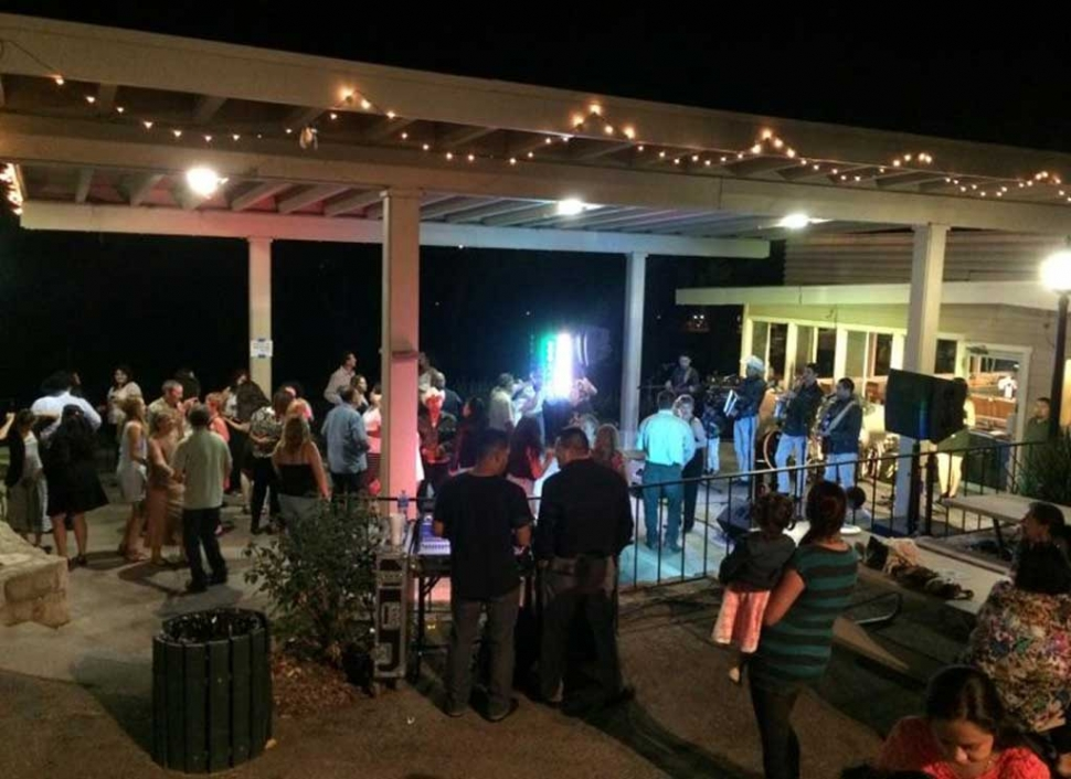 Hermanos Herrera play to a happy crowd at Elkins Ranch Golf Course, Friday night. The group has established themselves as the future of Regional Mexican music.