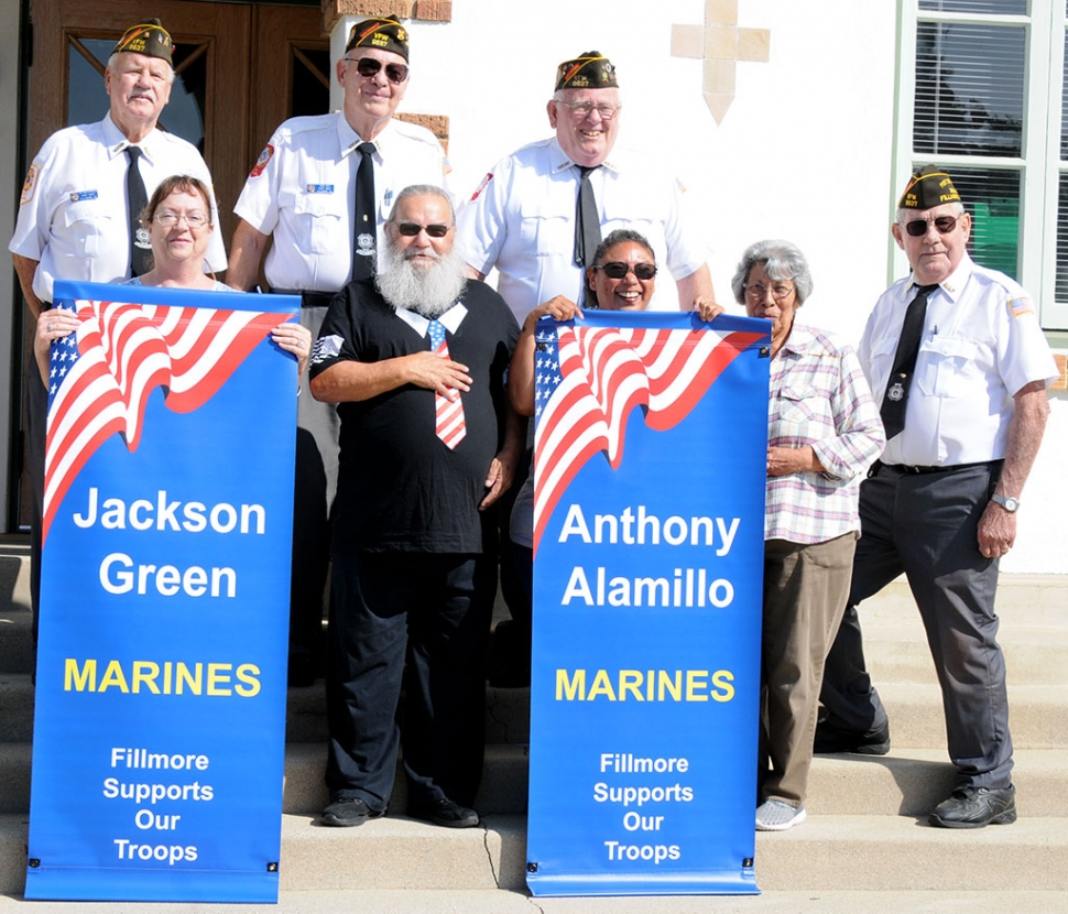 New Military Banners For Anthony Alamillo Amp Jackson Green