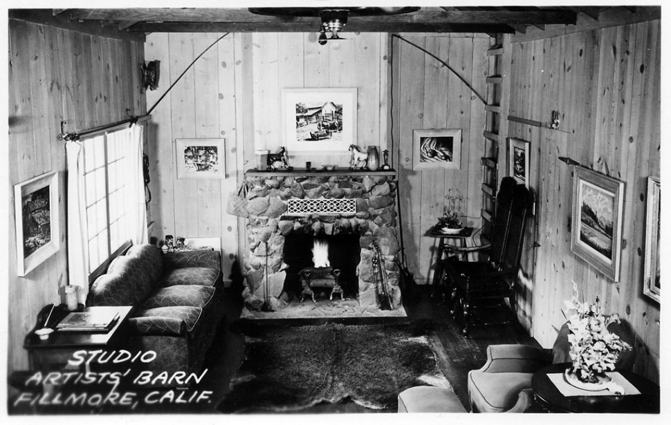 Above is the interior of the Artists' Barn which opened in November 21, 1936.