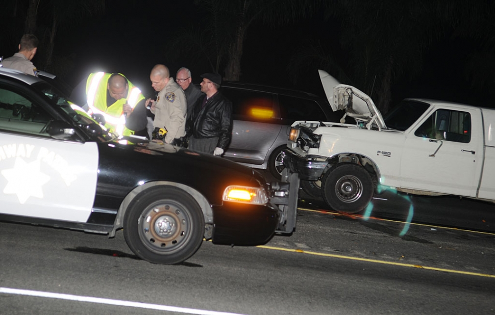 Jose Jimenez Cervantes, 41, of Fillmore died at the scene after being struck by a pickup on Highway 126. The accident was reported at 6:35 p.m. near Howe Road. Cervantes, riding his bicycle eastbound without lights and without a helmet, was struck from behind by a pickup driven by Alberto Velgara, 21, of Piru. He was pronounced dead at the scene. According to the Ventura County Medical Examiner's Office, Cervantes died of blunt-force chest and abdominal injuries. The CHP closed one lane for approximately 90 minutes after the crash. The incident remains under investigation.