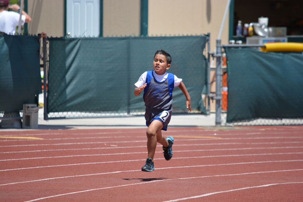 Angel Gonzalez will represent the Blazers this weekend at the Championship meet. Angel placed 4th in the 400m dash gremlin division