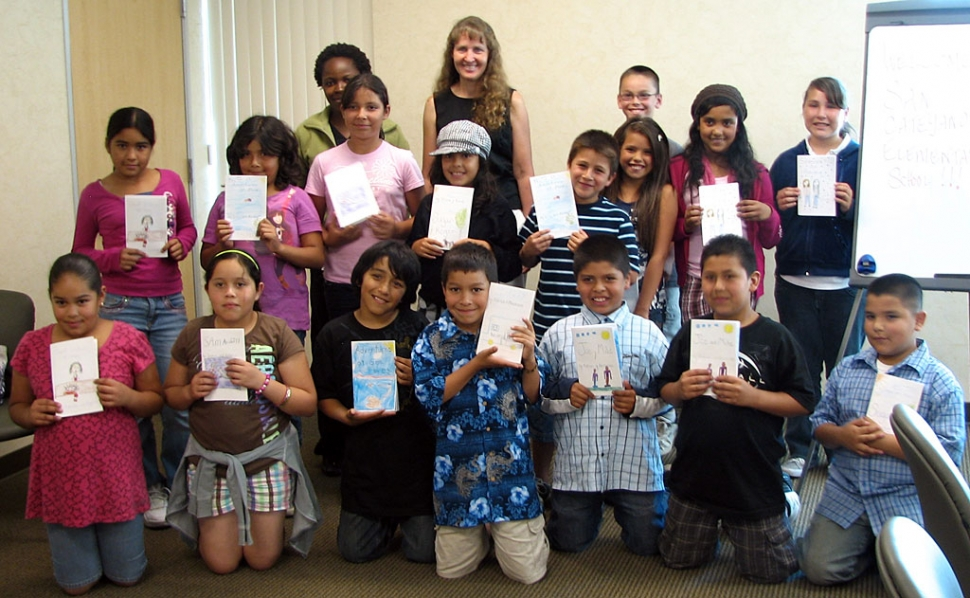 On Wednesday, May 13, the student authors from San Cayetano presented their books to the Ventura County Medical