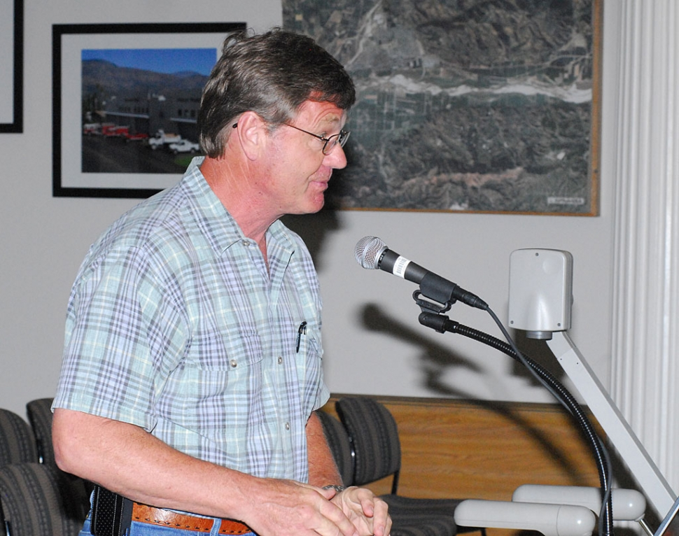 Bill Burnett spoke to council concerning proposed business park.