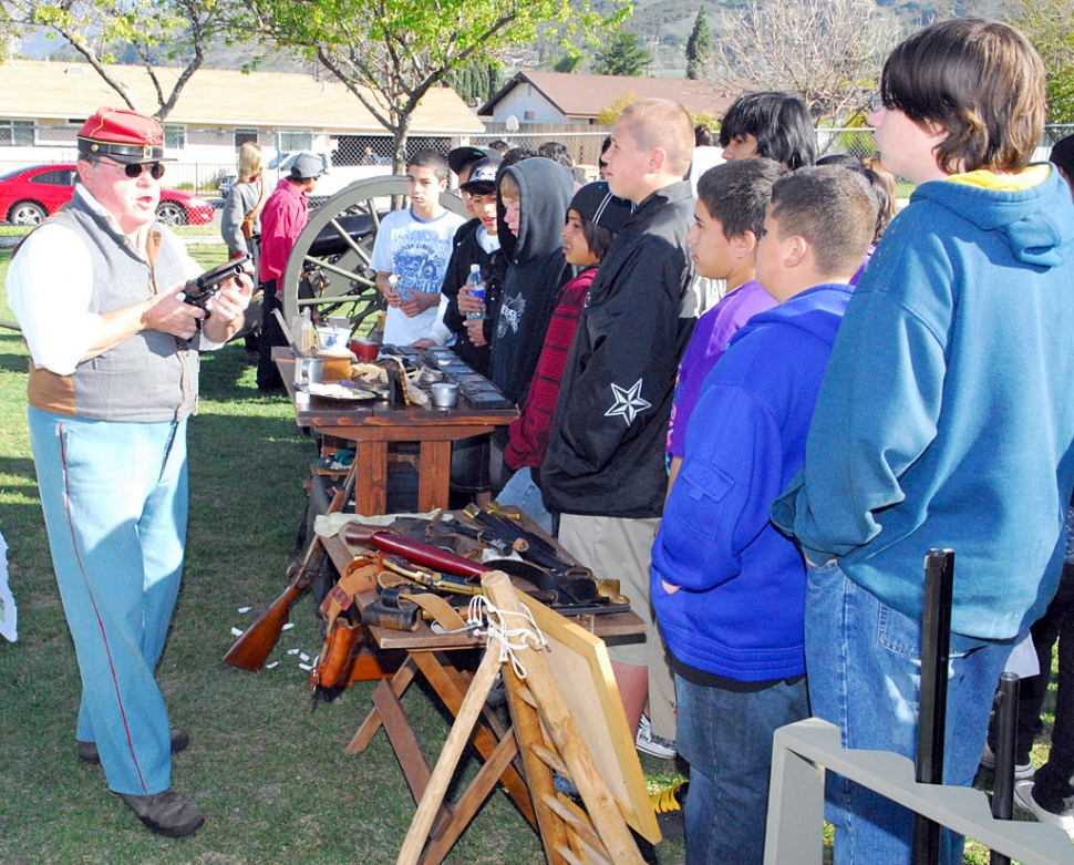 Middle School students enjoyed their annual Civil War Day expositions, Friday. Everything from period food, medical technology, weapons, and camp life were demonstrated.