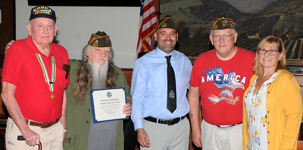 At last night's city council meeting Veteran's of Foreign Wars Post 9637 was recognized as the Best Trunk at this year's second annual Trunk or Treat event.
