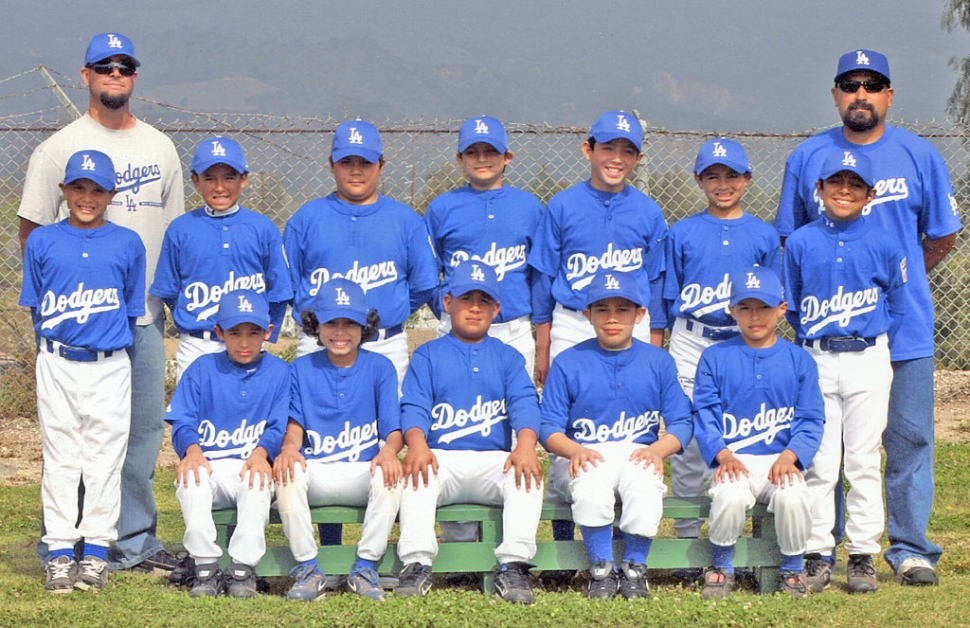 10 and Under Fillmore Dodgers came in first place here in the Fillmore Little League. The team was chosen to go to the play-offs where they battled against Santa Paula Blue Jays 11-5 in the championship play-offs game to take third place in Saticoy on June 20. Pictured above are Manager/Coach Aric Diaz, Coach Kevin Richardson, Michael Richardson, Darian Delgadillo, Jose Avila, Tatem Frosberg, Steven Juarez, Chris Castro, Aric Diaz, Anthony Aguilera, Joe Joe Vaca, Diego Garcia, Joey Zepeda, and Saul Santa Rosa. Not pictured in the