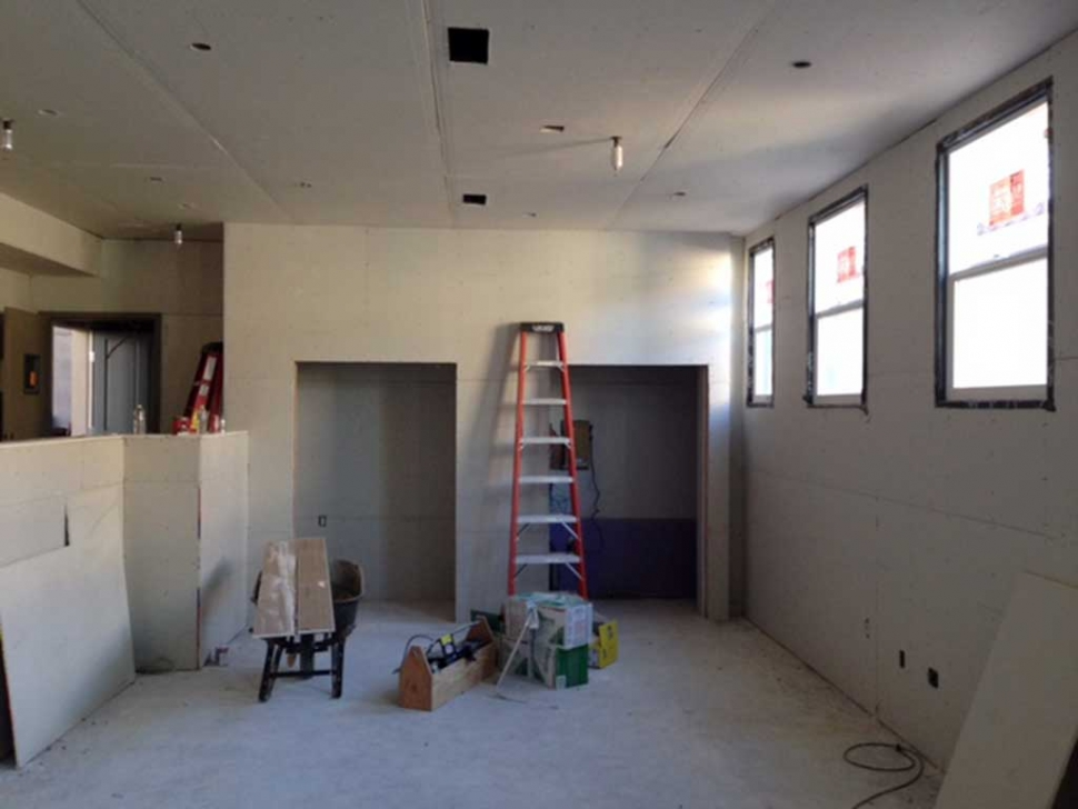 The new Teen Study Room at the Boys & Girls Club is moving along well.