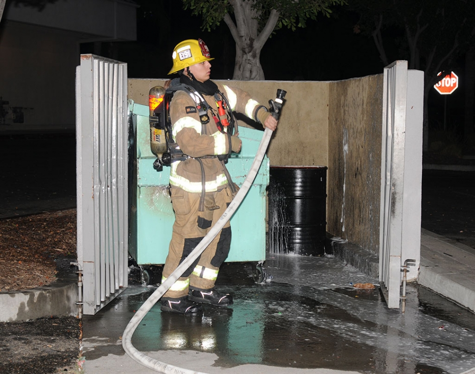 On Saturday, July 4th at the Vons Shopping Center, 600 block Ventura Street, crews responded to a dumpster fire near the Subway store. The flames were extinguished quickly; cause of the fire is under investigation.
