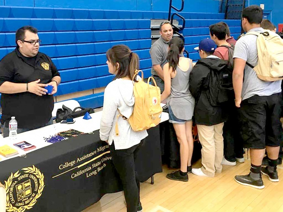Last week was Higher Education Week at Fillmore High School. Class of 2017 and 2018 attended a Higher Education College Day presentation at the High School Gym. Fillmore High School was complimented by various reps on their behavior and inquisitive nature. CSU and UC reps from as far as Syracuse were in attendance along with FIDM and various other Vocational Schools.