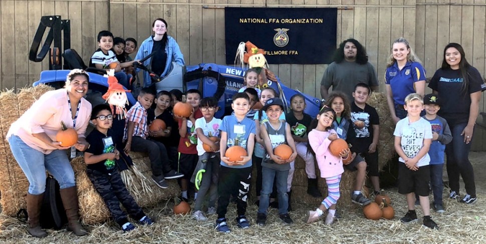 "On October 30th the Fillmore FFA hosted ""Fall on the Farm"" for all Fillmore Unified School District Preschools, Pre-K,