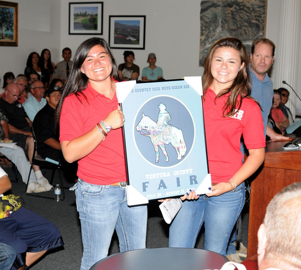 The new Ventura County Fair poster was displayed at City Council this week.