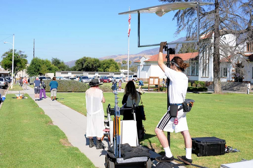 Wednesday morning, July 26th film crews were in front of the Fillmore Unified School District office. Crew members were scattered across the front lawn as well as across the street. When asked what they were filming, they would not share the information.