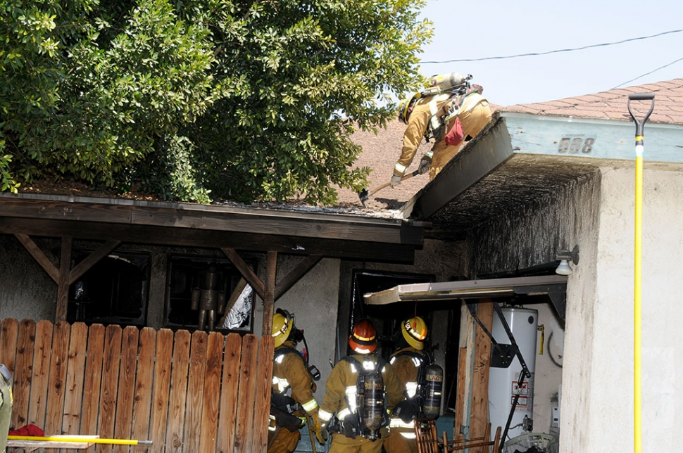 Friday, June 6, at 2:15 a fire swept through a private residence in the 500 block of Via Fustero, Piru. The blaze started in a back bedroom, cause unknown. Five animals are reported to have perished in the fire. Five adults have been displaced from the home. The fire is under investigation.