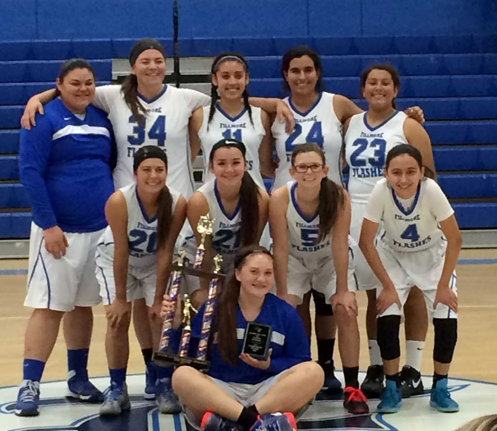 (l-r) (top) Mariah Gonzalez, Sydnee Isom, Giselle De La Paz, Kiara Leon and Dezeray Zavala, (bottom) Cali Wyand, Kayla Carrillo, Lindsey Brown and Kiara Del Villar. Front and center is the All Tournament recipient, Karissa Ibarra holding the runner up trophy.