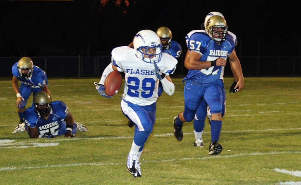 Zach Golson #29 had 16 carries for 67 yards. Fillmore will play this Saturday against Village Christian at