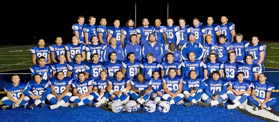 Pictured above is the Fillmore Flashes football team: Back Row: Noah Aguirre, Brandon Barker, Victor Moreno, Kevin Brock, Mike Cervantes, Alberto Morales, Major Lee, Quinn Keller, Carson Lhotka, David Esquivel, Ricky Plazola, and Emilio Gomez. Third Row: Gerardo Alday, Jessie Sanchez, Bo Zinskey, Dylan Dawson, Coach Dave Wilde, Coach Matt Suttle, Head Coach Matt Dollar, Troy Eskridge, Coach Curtis Garner, Hector Munoz, Juan Carlos Toledo, Corey Cole, and Mike Vigil. Second Row: Anthony Cortez, Kelly Bullard, Paula Ruiz, Gabriel Manzano, Johnathan Munoz, Derek Luna, Ty Casey, Victor Gomez, Nathan Ibarra, Tate Suttle, Cody Jackson, and Christian Prado. Bottom Row: Anthony Edwards, Austin Davis, Anthony Solis, Ernie Holladay, Ralph Sandoval, Jose Estrada, Troy Hayes, Nick Paz, Rene Paz, Jose Rangel, Gabriel Gomez, Jose Gonzales, and Zach Golson.