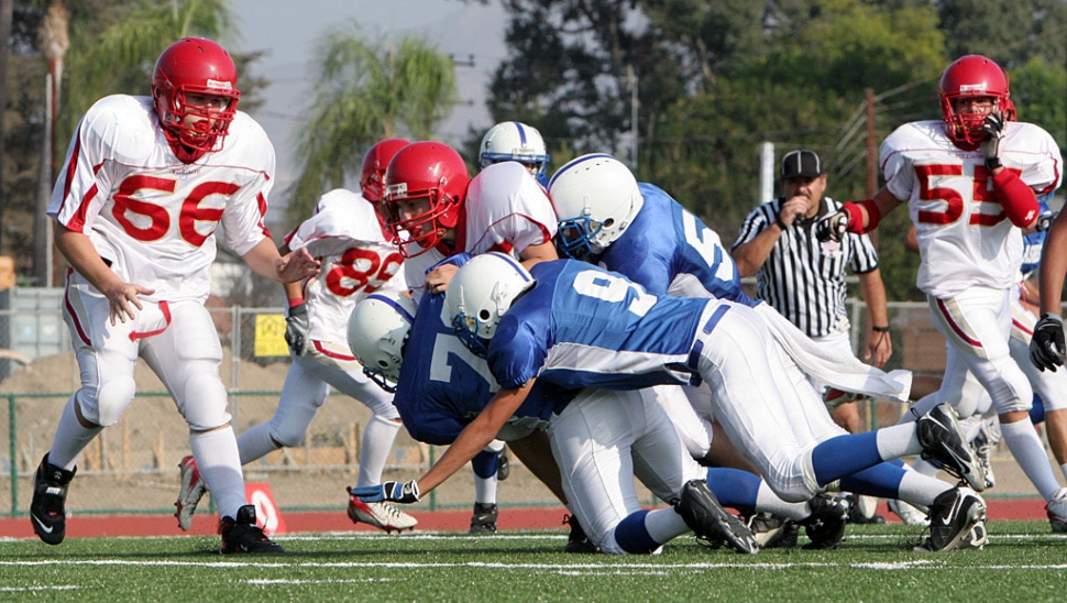 Flashes J.V. defense held their ground against Village Christian.