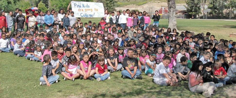 Piru Elementary students went to college this week as part of Piru's Reaching Higher in '09 Academic Achievement Focus.