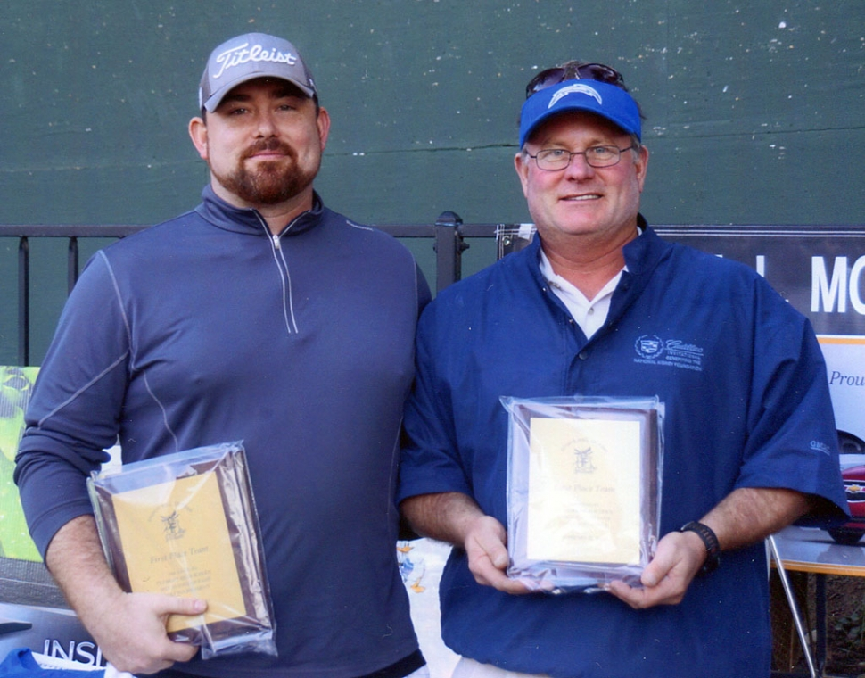 F.H.S. Sports Hall of Fame winners were (l-r) Steve Dann and Chris Goodenough
