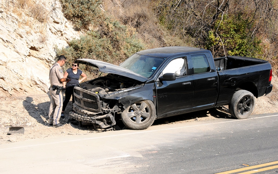 On Wednesday, September 3rd at 2:09pm, a traffic collision at 3500 Grimes Canyon was reported, stalling traffic traveling north bound. Emergency crews found a black pickup truck with serious front-end damage by the side of the road. No details were available at the time of the accident. Cause of the crash is unknown.