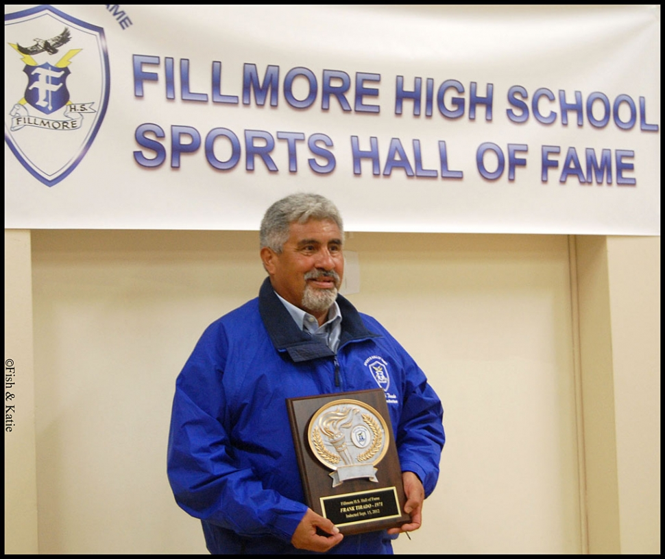 Frank Tirado Class of 1971, was inducted into the Hall of Fame.