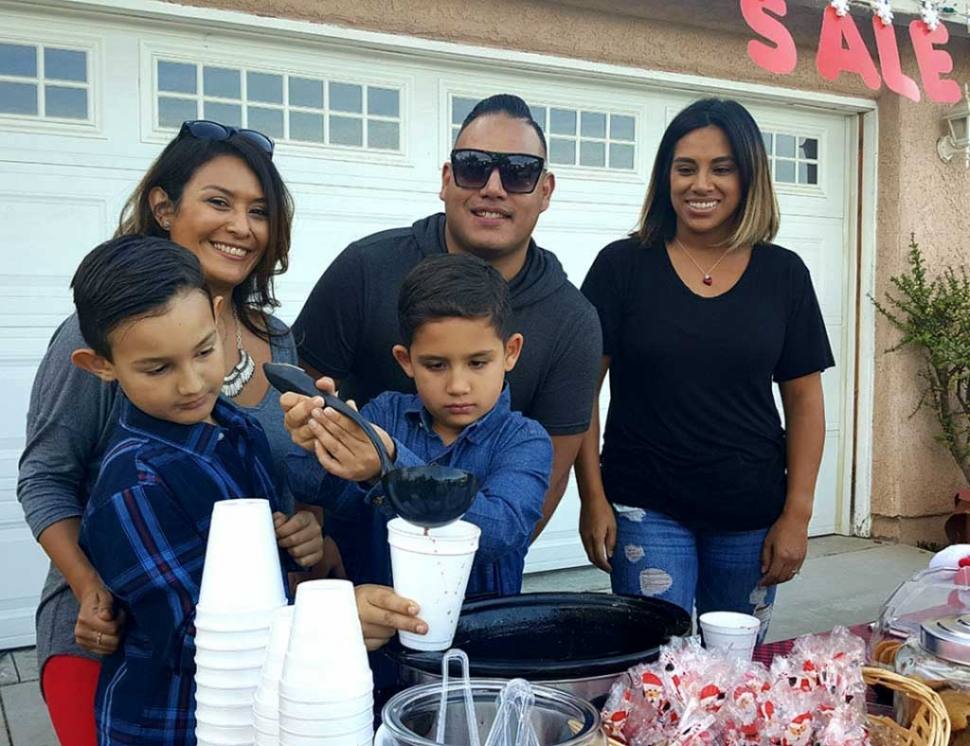 For the past 3 years Brendan Morales, mom Laura Morales, his best friend Colby Satterfield, mom Teresa Satterfield along with their uncle Christopher Zavala have made a large donation to the Fillmore Fire Departments Annual Toy Drive. The boys set up a stand in their driveway offering hot chocolate, goodies and arts and crafts for a donation. They will be out there this Saturday, December 2nd at 331 D Street from 4pm – 7pm. Last year the were able to raise over $300 for this good cause. 2016 photo courtesy of Sebastian Ramirez.