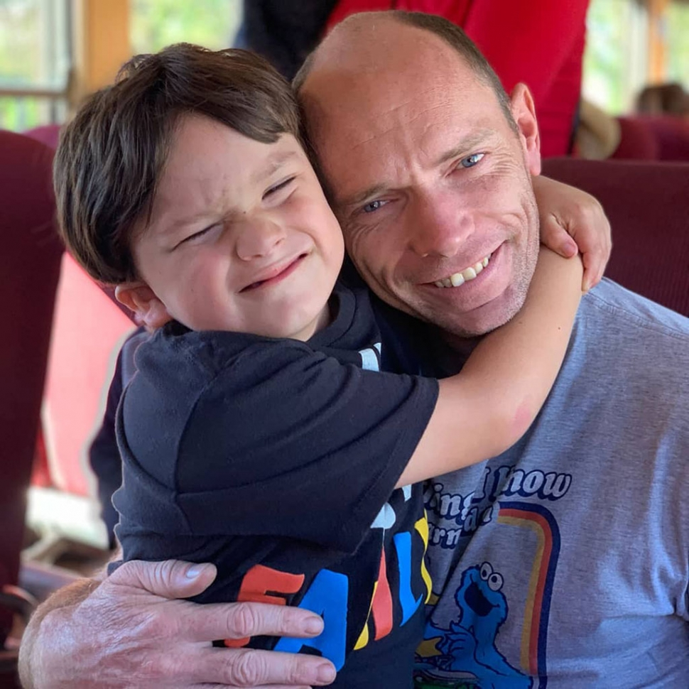 Pictured above are Larry Cassidy and his son Larson, who will be taking part in the Great Cycle Challenge to fight Kids Cancer. Cancer is the biggest killer of kids from disease in the USA; 38 children die every week. Please donate now and support his challenge to fight kids' cancer!