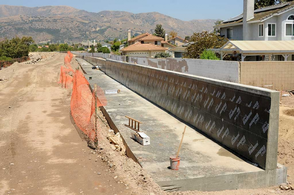 The levee near the southern end of Sespe Creek is nearing completion. The $1,457,735 project is due to be complete by mid-November.