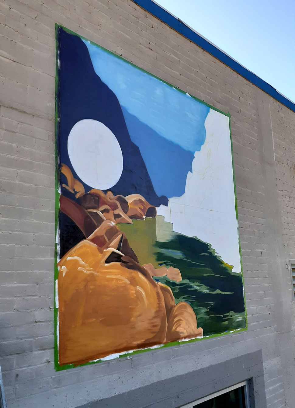 Pictured above is a mural in progress just outside Nova Storage at 455 A Street. Fillmore artist, musician and activist Gabriel Cardenas is the one responsible for this beautiful artwork.