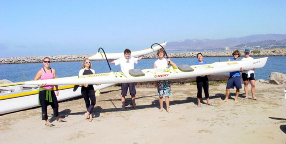 "Pictured at Harbor Cove Beach is the new Ocean Canoe-2 that Hokuloa purchased with the help of Chuy Ortiz from El Pescador Restaurant in Fillmore. The Hokuloa Outrigger Canoe Club of Ventura would like to publicly thank Jesus Ortiz and El Pescador Restaurant in Fillmore for the donation made to the youth paddlers of Hokuloa to help purchase a new training canoe; you are a great supporter of youth sports in Ventura County! In honor of his generosity, and because this is a Polynesian sport, Hokuloa named the new canoe ""LAWAI'A"" which in Hawaiian means ""El Pescador"" or the fisherman. A successful fisherman is highly revered in the Hawaiian culture and the Hokuloa youth paddlers named it in a show of appreciation to Jesus and ""El Pescador Restaurant."" On September 7, the HOKULOA boys under 19 years old won a race in their division in a six man canoe paddling from Catalina Island to Newport Beach. They paddled a total of 31 miles in 5 hours and 57 seconds."