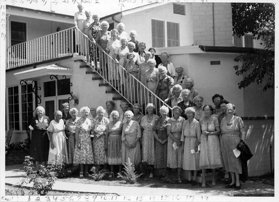 FIRST GREY GABLES RESIDENTS: Residents of Grey Gables were committed to Dr. Andrus's vision of the older years as a time of growth and service to others.  