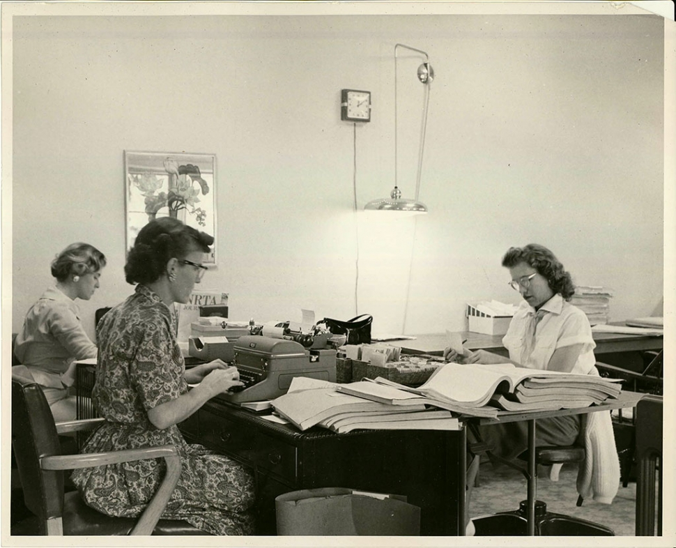 OFFICE NRTA-AARP: In 1960, Dr Andrus constructed a new office building across from Grey Gables on Montgomery Street. It operated 24 hours a day with over 200 employees making NRTA-AARP Ojai's largest employer at the time.
