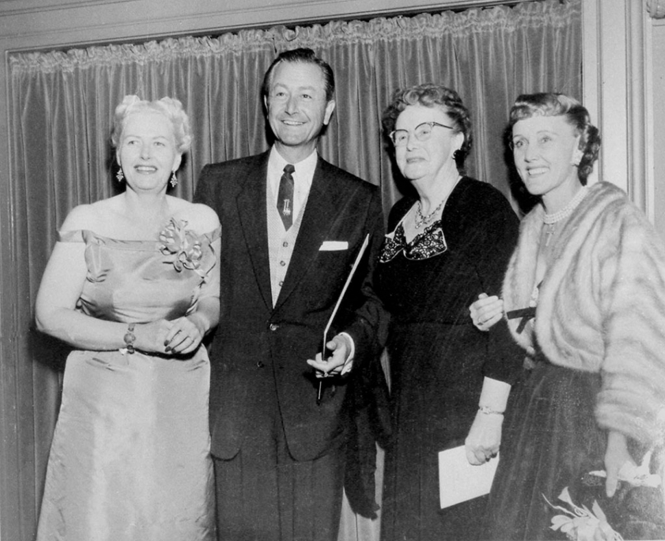 DR. ANDRUS AND THE ROBERT YOUNGS: Shows Andrus with her former Lincoln High School student Robert Young and his wife Betty (far right). 