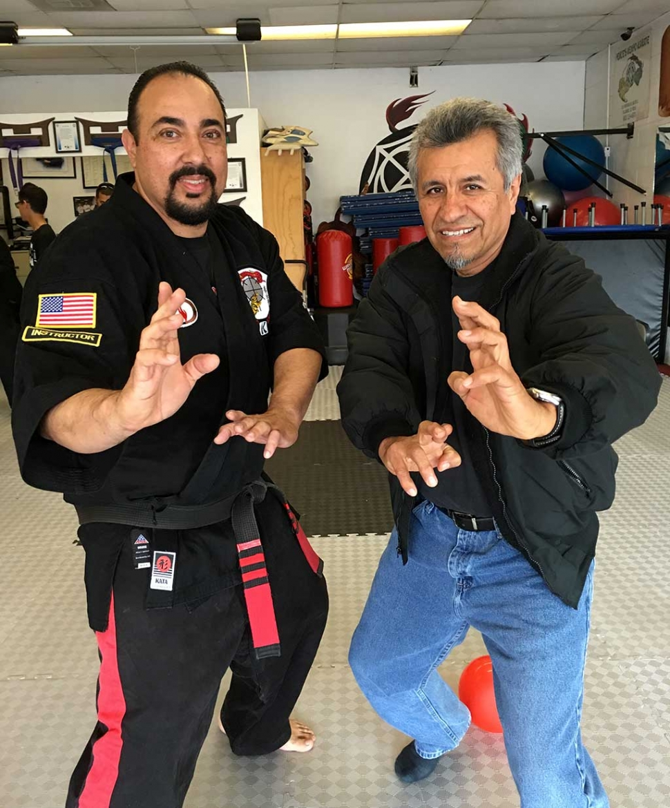 Paul Perce owner/instructor of Perce's Kenpo Karate promoted to 8th degree black belt in American Kenpo karate.  Paul is the highest black belt rank with Flores bros. and 1st ever to be promoted to 8th degree black belt by Jesus Flores. Congratulations Sifu Paul Perce on your promotion.