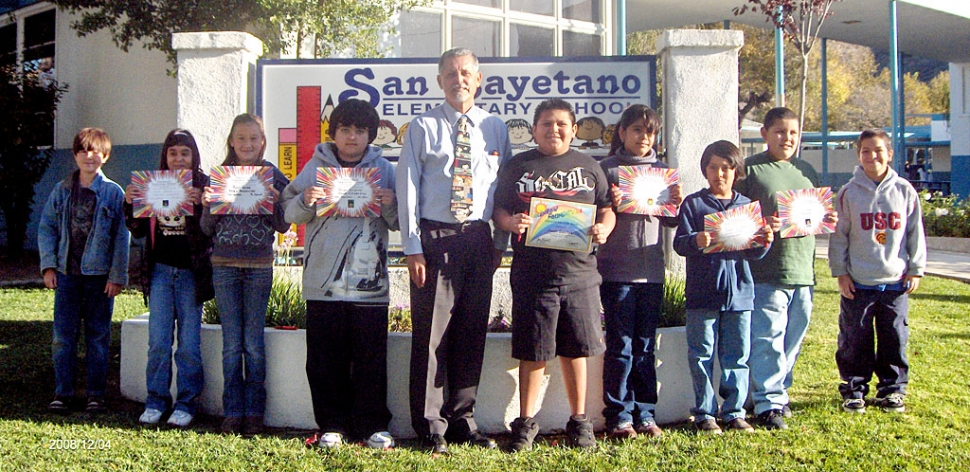 Francisco Garcia from CSUCI spoke to San Cayetano students on December 9th about how to be a good citizen.