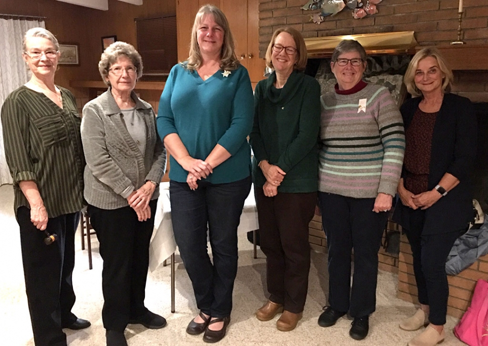 The Fillmore PEO (Philanthropic Educational Organization) Chapter GY installed new officers in March of this year. Pictured are the new officers: President Jan Lee, Vice President Mary Ford, Recording Secretary Amy Berger, Guard Barbara Peterson, Treasurer Martha Gentry, Chaplin Martha Roger. Not pictured is Corresponding Secretary Carmen Zermeno. Courtesy Martha Richardson.