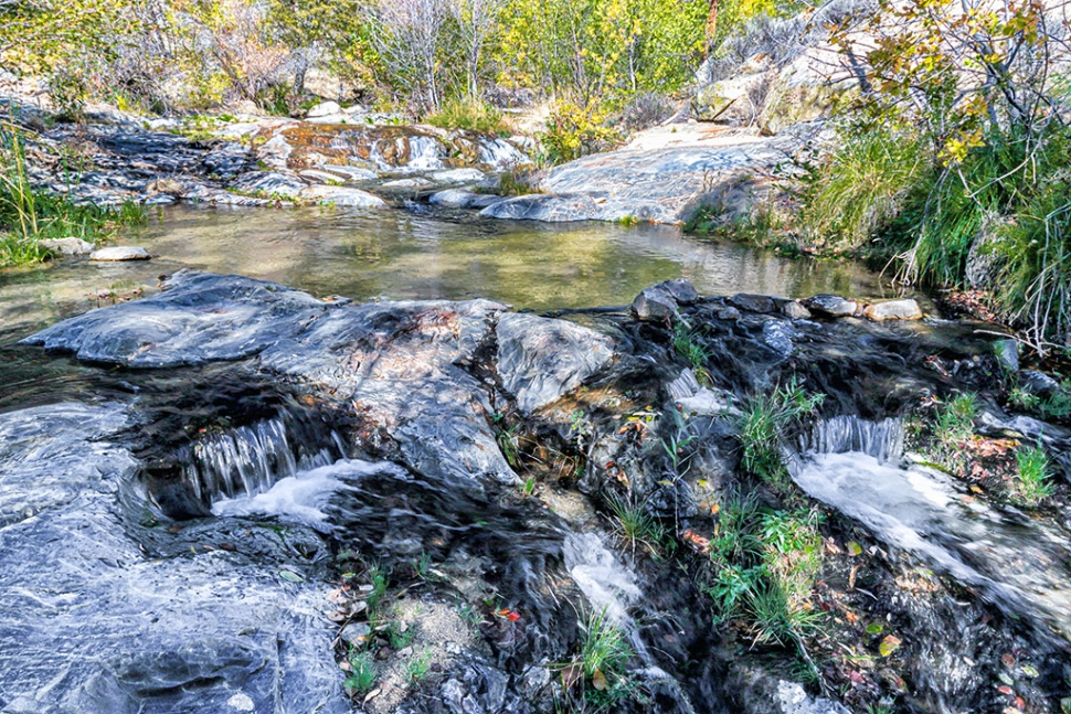 "Photo of the Week ""Brush Creek north of Kernville, CA"" by Bob Crum. Photo data: Canon 7DMKII camera with Canon EF-S 15-85mm f/3.5-5.6 IS USM lens @16mm. Exposure: ISO 100, aperture f/16, shutter speed @1/25th second."