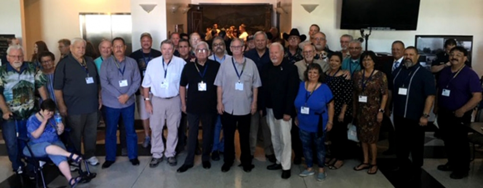 Pictured above are all who attended the plaque dedication ceremony held Saturday, July 20th at Fillmore City Hall in honor of 62 years of service to the Fillmore Citizens by the Fillmore Police Department Officers and Dispatchers from 1925 – 1987. Photos courtesy Manuel Minjares, Field Representative 3rd District Supervisor Kelly Long.