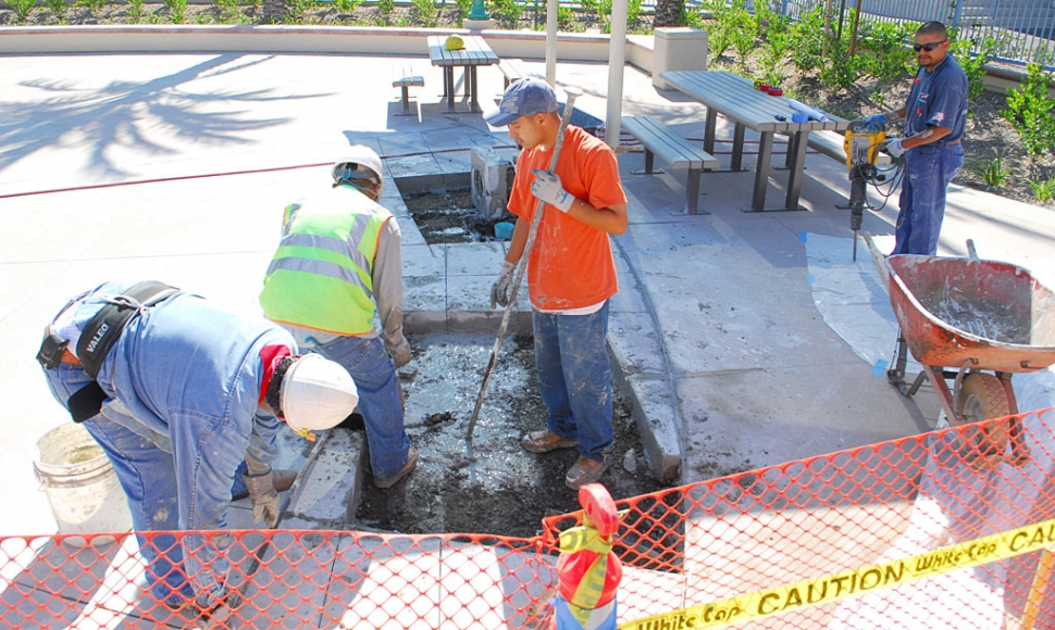 Small Demolition Project : Small construction project at pool the fillmore gazette