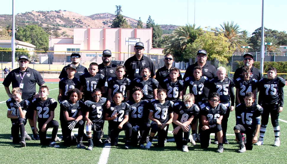 Fillmore Raiders Bantam Black team which will play in the Super Bowl, Saturday, November 16th at Newbury Park High School. Photo courtesy Crystal Gurrola.