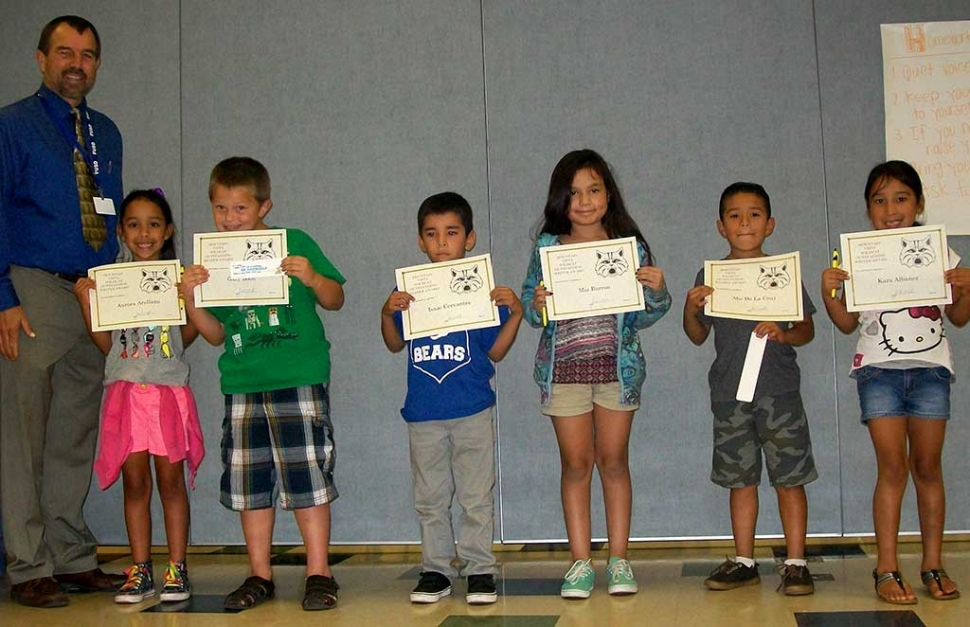 The Mt. Vista School Readers and Writers of the Month are as follows: 2nd Grade: Aurora Arellano, Gary Boon,