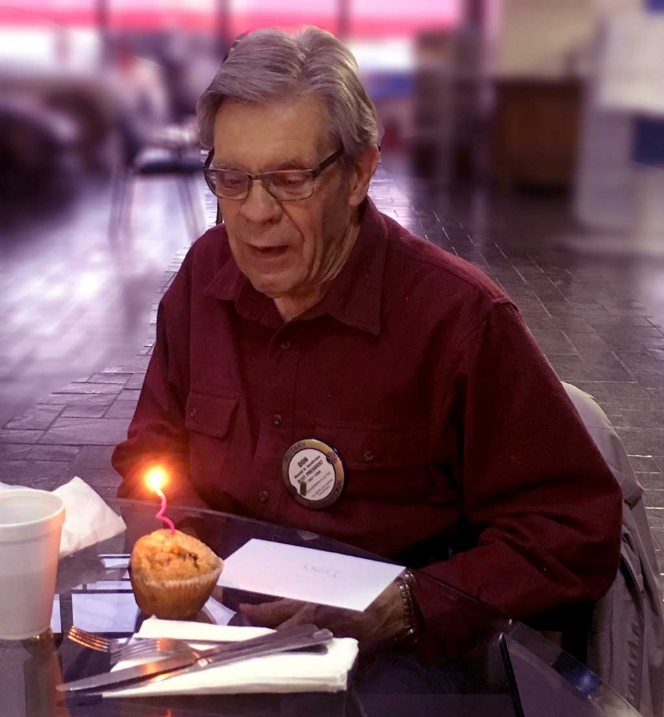Fillmore Rotary celebrated Don Gunderson's 82nd birthday.
