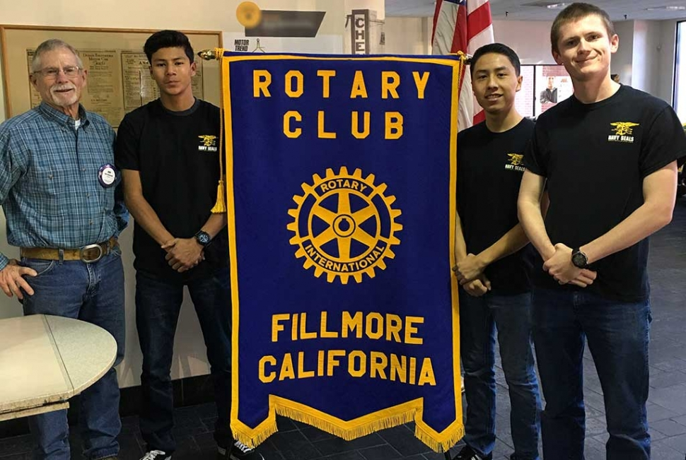 Ricardo Lomeli, Derek Flores and Matthew Hamond presented a program on what they endured during the Navy Seal Invitational last year. It involves team work and physical fitness. They are preparing to compete again this year.